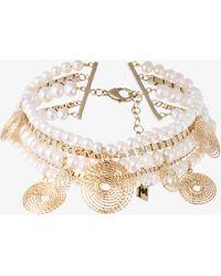 Rosantica   Armonia Pearl Twisted Chain Choker   Lyst
