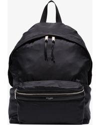 Saint Laurent - Black Foldover Logo Backpack - Lyst