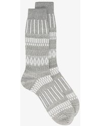 Ayamé - Grey Basket Lunch Patterned Socks - Lyst