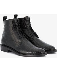 Robert Clergerie - Embossed Combat Boots - Lyst