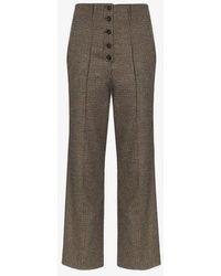 Nanushka - Houndstooth Tweed Trousers - Lyst