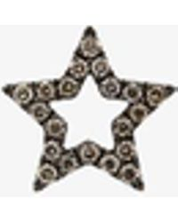 Rosa De La Cruz - Diamond Encrusted Star Earring - Lyst