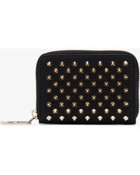 Christian Louboutin - Black Panettone Leather Coin Purse With Spikes - Lyst