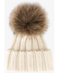 Inverni - Racoon Fur Bobble Hat - Lyst