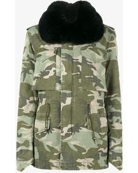 Mr & Mrs Italy - Fox Fur Trimmed Camouflage Parka - Lyst