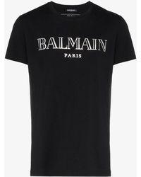 Balmain - Logo-print T-shirt - Lyst
