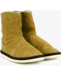 Suicoke - Shearling Lined Suede Boots - Lyst