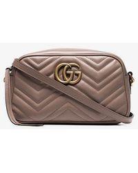 5a090a382673 Gucci Gg Marmont Matelassé Denim Shoulder Bag in Blue - Lyst