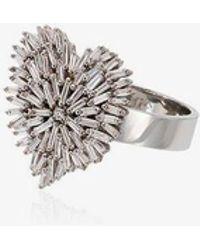 Suzanne Kalan - 18k White Gold And Diamond Firework Heart Ring - Lyst