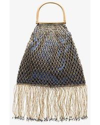MY BEACHY SIDE - Blue Woven Silk Blend Large Tote Bag - Lyst