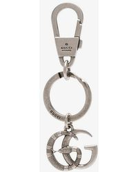 Gucci - Silver Double G Snake Keyring - Lyst