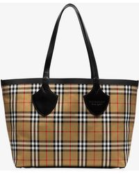 Burberry - Nude The Medium Giant Cotton Vintage Check Tote - Lyst