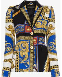 Versace - Baroque Printed Blazer - Lyst