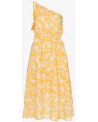 A Peace Treaty - Yuna One-shoulder Print Cotton Blend Dress - Lyst