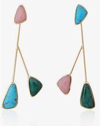 Pamela Love - Pillar Inlay Satellite Earrings - Lyst