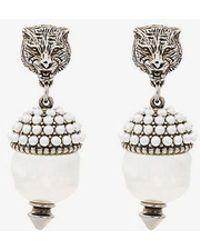Gucci - Feline Faux Pearl Earrings - Lyst