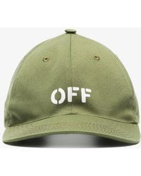 Off-White c/o Virgil Abloh - X Browns Green Embroidered Logo Cap - Lyst
