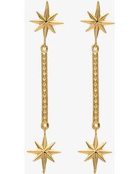 Marte Frisnes - Gold Metallic Colette Sterling Silver Drop Earrings - Lyst