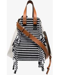 Loewe - White, Blue And Brown Hammock Scarf Small Leather Bag - Lyst