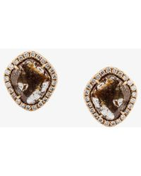 Saqqara - Sliced Diamond Earrings - Lyst