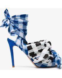 Natasha Zinko - 125 Cotton Gingham Sandals - Lyst