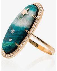 Andrea Fohrman - 18k Yellow Gold Chrysocolla Star Diamond Ring - Lyst