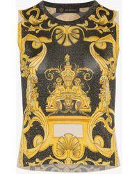 Versace - Barocco Sleeveless Knit Top - Lyst