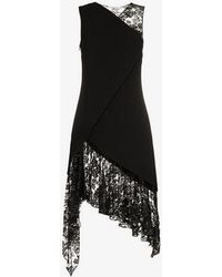 Givenchy - Sleeveless Lace Wool Dress - Lyst