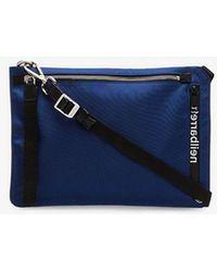 Neil Barrett - Blue And Black Sacoche Pouch Cross Body Bag - Lyst