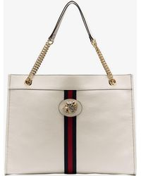 be72168945cf Gucci - White Rajah Tiger-embellished Leather Tote Bag - Lyst