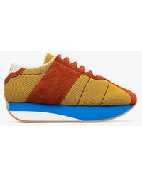Marni - Multi Coloured Suede Mesh Sneakers - Lyst