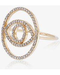 Ileana Makri - Diamond Circle Evil Eye Ring - Lyst