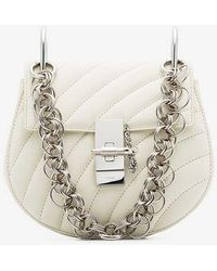 Chloé - White Drew Mini Leather Quilted Leather Bag - Lyst
