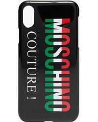 Moschino - Black Italian Logo Iphone X Case - Lyst