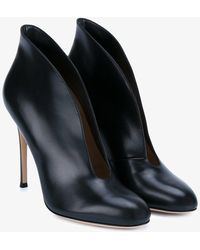Gianvito Rossi - Vamp Leather Ankle Boots - Lyst