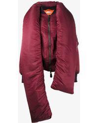 Balenciaga - Detachable Collar Puffer Jacket - Lyst