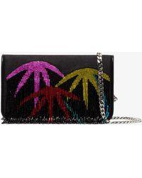 Les Petits Joueurs - Black Palm Tree Fringed Clutch Bag - Lyst
