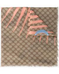 Gucci - Angry Cat Print Modal Silk Shawl - Lyst
