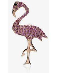Ileana Makri - Sapphire And Black Diamond Flamingo Necklace - Lyst