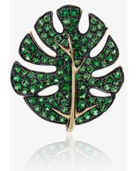 Yvonne Léon - Gold Monstera Leaf Earring - Lyst