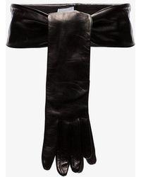 Vetements - Black Gloves Leather Belt - Lyst