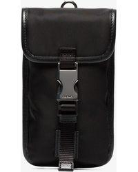 Prada - Black Nylon Phone Gadget Clip Case - Lyst