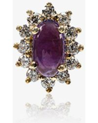 Rosa De La Cruz - Amethyst And Diamond Single Stud Earring - Lyst