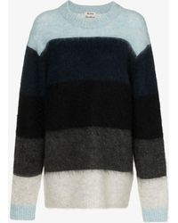 Acne Studios - Albah Striped Wool Mohair-blend Sweater - Lyst