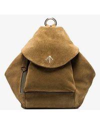 MANU Atelier - Green Fernweh Suede Backpack - Lyst