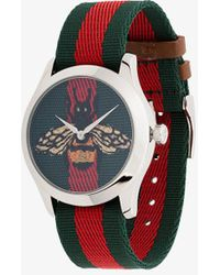 Gucci - G-timeless 38mm Bee Web Watch - Lyst