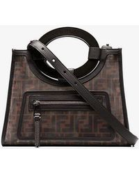 e58be62ab1e1 Fendi Large Runaway Shopping Tote in Black - Save 4% - Lyst