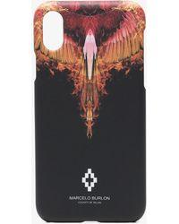 Marcelo Burlon - Black, Red And Orange Flames Iphone 7 Case - Lyst
