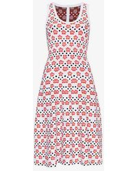 Alaïa - Floral And Dot Midi Dress - Lyst