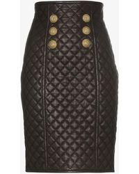 1315d01af6fb77 Alexander Wang Paisley Quilted Liner Skirt in Black - Lyst